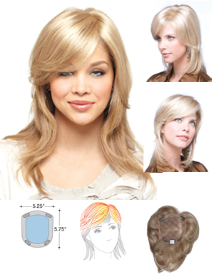 Amore Wigs : Medium Mono Top Piece  (#751)
