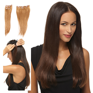 HairDo Extensions : 16 Inch 5 Piece Remy Human Hair Extension Kit (#H165PC)