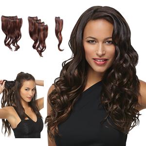 HairDo Extensions : 18 Inch 8 Piece Wavy Extension Kit (#HX8PWX)
