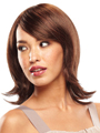 Jon Renau Wig Bailey is a shoulder-length layered style with side swept bangs, a monofilament top, and face-framing layers.