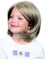 Jon Renau Children's Wig Amy is a short bob style with monofilament top construction for styling versatility.