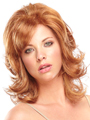 Jon Renau Wig Farrah is a shoulder-length style with layered, wavy locks for a romantic feel and a monofilament top for styling versatility.
