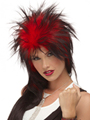 Jon Renau Punky Long Wig is a long, outrageous tina style with spiky crown and side layers, a long nape, and an abundance of tinsel for a shiny, attention-getting effect.