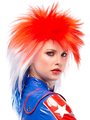 Jon Renau Punky Short Wig is a medium, outrageous punk style with spiky crown and side layers for an attention-getting effect.